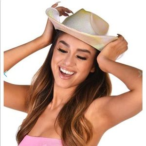 NWT iheartraves | iridescent starlet cowboy hat